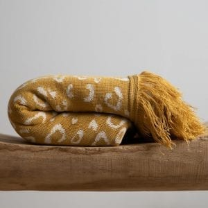 Malala blanket- mustard yellow