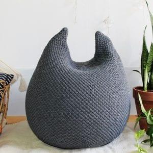 bunny pouf – Dark gray