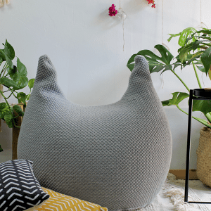bunny pouf – light gray