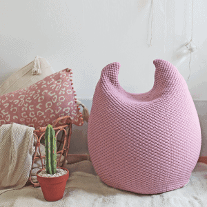 bunny pouf – light pink