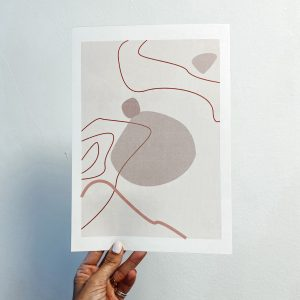 LINES ON STAINS PRINT